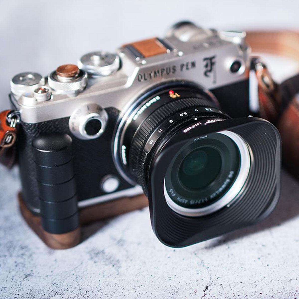Olympus LH-48B Metal Lens Hood for M.ZUIKO DIGITAL 17mm 1:1.8 Lens Black