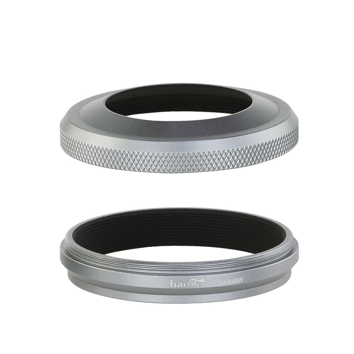 Lh X49w Lens Hood W Adapter Ring For Fuji Fujifilm X100f