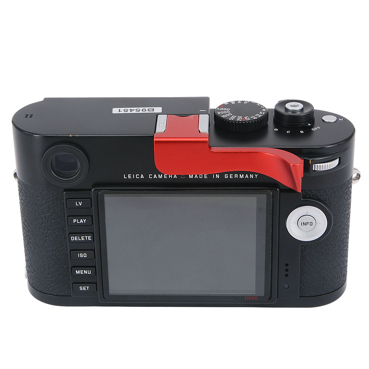 M-D Typ 262 Camera Red Haoge THB-M24R Metal Hot Shoe Thumb Up Rest Hand Grip for Leica M Typ240 M240 M-P Typ 240 M240P M Typ262 M262